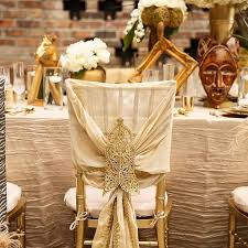 Wedding Chair Covers Rental Beautiful Table And Chair Covers For An African Themed Wedding