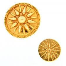 gold pendant without stones vergina s sun in different sizes the