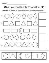pattern math worksheets preschool easy preschool patterns worksheet 1 busy bags and activities for