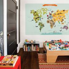 World Map Wall Decal Amazon Com Childrens World Map Poster Wall Sticker Illustrated