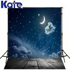 Wedding Backdrop Banner Aliexpress Com Buy Theme Wedding Backdrop Moon Star Clouds
