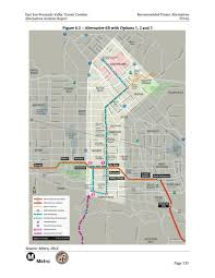 Valley Metro Map by Alternatives Analysis Released For East San Fernando Valley