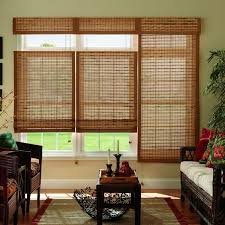 Roman Shades Over Wood Blinds Cordless Window Treatments The Home Depot