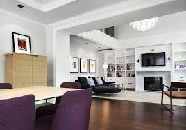 living room design with corner fireplace subway tile patio