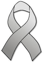 gray ribbon cancer awareness colors
