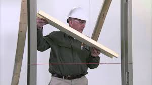 How To Frame A Door Opening How To Install A Steel Door Frame In Masonry Construction Youtube