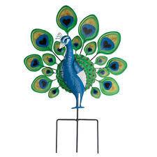 garden metal bird decoration outdoor standing peacock pond