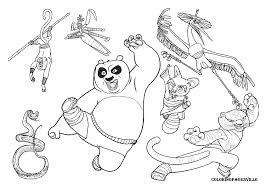 coloriage à imprimer personnages célèbres dreamworks kung fu