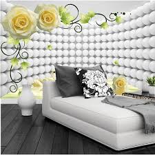 custom modern wallpaper design 3d rose swan papel de parede hotel