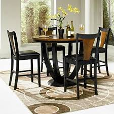 Coaster Dining Room Furniture Amazon Com Boyer Two Tone Counter Height 5 Piece Dining Set By