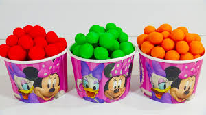 disney minnie mouse cup play doh dipping dots surprise toys