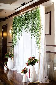 wedding backdrop on a budget budget friendly wedding trend 27 greenery wedding decor ideas