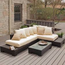 Patio Modern Furniture 25 Awesome Modern Brown All Weather Outdoor Patio Sectionals