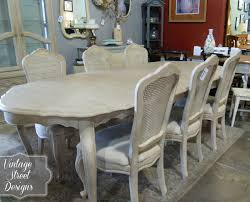 Used White French Provincial Bedroom Furniture Painted Oak Dining Table And Chairs 55 With Painted Oak Dining