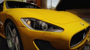 maserati yellow maserati granturismo sport v2 for gta san andreas