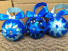 hcd001 baubles blue handmade decoration
