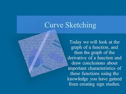 curve sketching today we will look at the graph of a function and