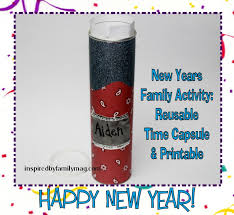 new year u0027s family activity simple time capsule