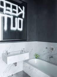White Wall Mirror Black And White Bathroom Tiles White Mounted Toilet Big Wall