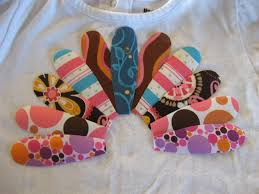 creative endeavors turkey applique shirt somewhere in the middle
