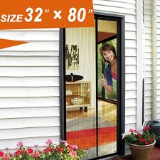 Magnetic Fly Screen For French Doors by Magnetic Screen Door Screen Mesh 32 X 80 Fit Doors Size Up To 30