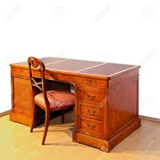 wooden work wooden work desk with chair stock photo picture and