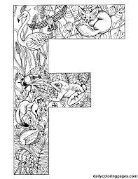 dessins lettre f éducatifs
