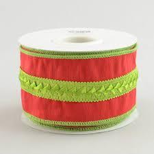 velvet ribbon 2 5 velvet ribbon with lime green braid 10 yards rn465191