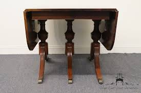 Mahogany Drop Leaf Table Table Prepossessing Vintage Duncan Phyfe Mahogany Drop Leaf Triple