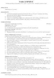 sample resume for high senior chronological resume sample