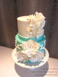 Tiffany Blue Flowers Tiffany Blue Sugar Flowers Bridal Shower Cake Cakecentral Com