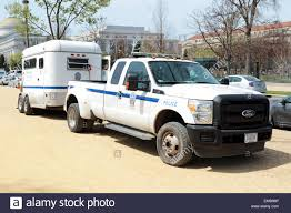 Ford F350 Truck - a united states park police ford f350 pickup truck with horse