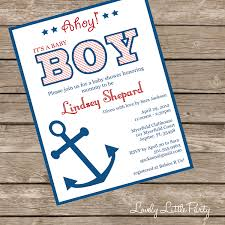 printable or printed nautical baby shower invitation lovely