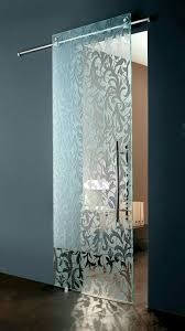 modern italian sliding etched glass door by european cabinets