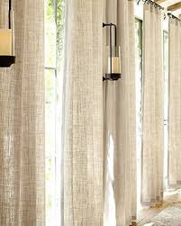 Kitchen Curtains Pottery Barn by Cotton Linen Sheer Curtains Curtain Blog
