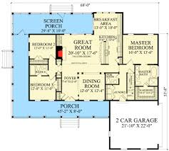 split bedroom plan 32640wp country cottage with wraparound and bonus room