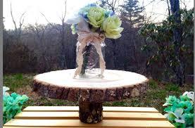 flat 10 12 wood tree slice wedding cake stand platter