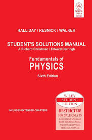 fundamentals of physics students solutions manual 6th edition