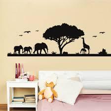 Bedroom Jungle Wall Stickers Online Get Cheap Elephants Jungle Aliexpress Com Alibaba Group