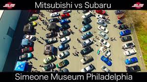 mitsubishi museum awd fest mitsubishi vs subaru youtube