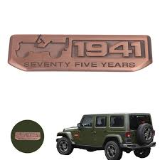 rose gold jeep cherokee rose gold 1941 seventy five years anniversary emblem badge decal
