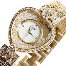 crystal bracelet watches images Yisuya women 39 s heart shape bling rhinestone quartz jpg