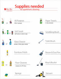 Household Items Checklist apartment cleaning supplies list
