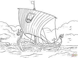 longship viking sea vessel coloring page free printable coloring