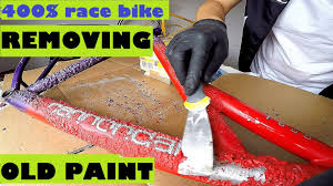 removing old paint from my cannondale f600 mountain bike striping
