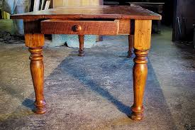 Custom Wood Tables Handcrafted Farmhouse Dining Tables - Farmhouse kitchen table with drawers