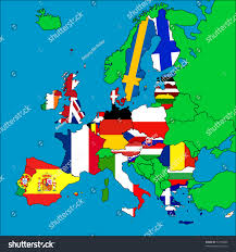 A Map Of Europe Map Europe All Eu Member Countries Stock Illustration 52186666