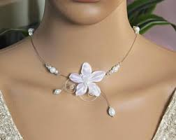collier de mariage collier fleur mariage etsy