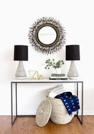 Gold Entry Table Beautiful Sunburst Mirror Interior Decorating Mi Casa