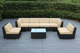 Patio Furniture Couch by Beautiful Brand New Outdoor Wicker Sofa And Dining Set 14 Pc Set